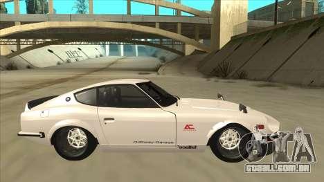 Nissan Fairlady Z - 240z para GTA San Andreas esquerda vista