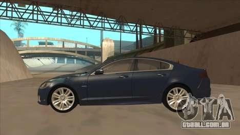 Jaguar XFR 2010 v1.0 para GTA San Andreas traseira esquerda vista