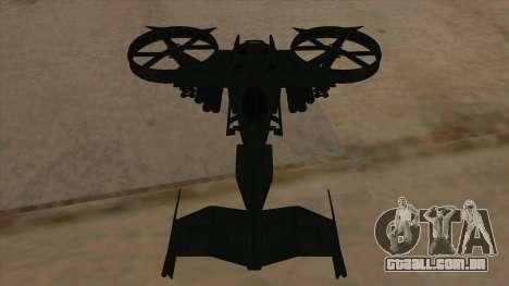 AT-99 Scorpion Gunship from Avatar para vista lateral GTA San Andreas