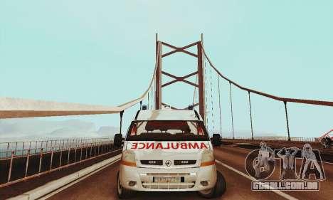 Renault Master PCSO AMBULANCE para GTA San Andreas esquerda vista