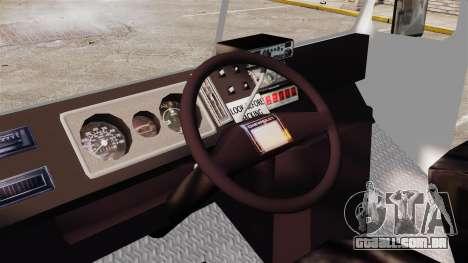 Chevrolet Step-Van 1985 NYPD para GTA 4 vista de volta