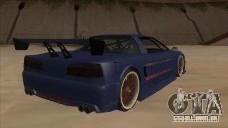 Infernus 2013 para GTA San Andreas vista direita