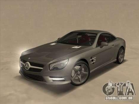 Mercedes-Benz SL500 2013 (ImVehFt v2.02) para GTA San Andreas vista superior