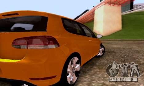 Volkswagen Golf 6 GTI para GTA San Andreas vista direita