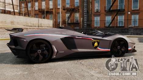 Lamborghini Aventador J Big Lambo para GTA 4 esquerda vista