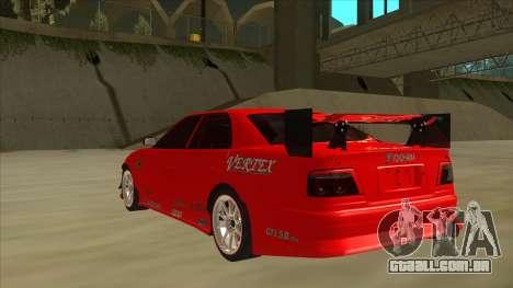 Toyota Chaser JZX100 DriftMuscle para GTA San Andreas vista traseira