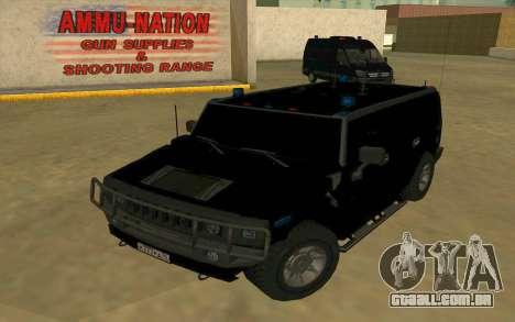 Hummer H2 para GTA San Andreas vista direita