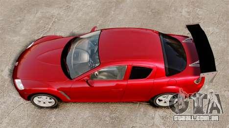 Mazda RX-8 Light Tuning para GTA 4 vista direita