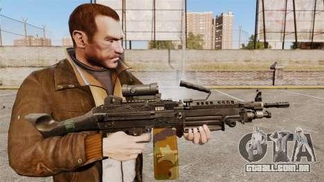 Luz metralhadora M249 SAW para GTA 4