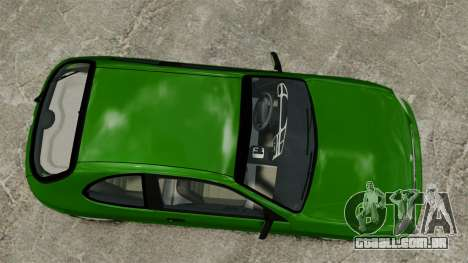 Daewoo Lanos FL 2001 US para GTA 4 vista de volta