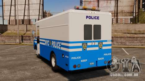Chevrolet Step-Van 1985 NYPD para GTA 4 traseira esquerda vista