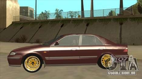 Mazda 626 Hellaflush para GTA San Andreas vista traseira