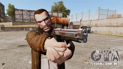 Beretta cromado para GTA 4 segundo screenshot