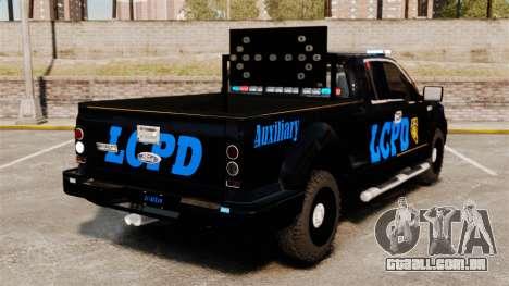 Ford F-150 v3.3 LCPD Auxiliary [ELS & EPM] v1 para GTA 4 traseira esquerda vista