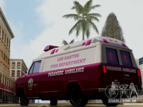 Vapid Ambulance 1986 para GTA San Andreas esquerda vista