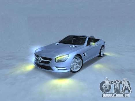 Mercedes-Benz SL500 2013 (ImVehFt v2.02) para GTA San Andreas traseira esquerda vista