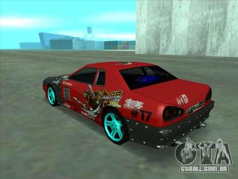 Drift elegy by KaMuKaD3e para GTA San Andreas vista interior