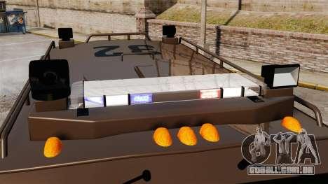 Lenco Bearcat blindado LSPD GTA V para GTA 4 vista de volta
