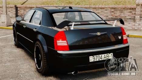 Chrysler 300C Pimped para GTA 4 traseira esquerda vista
