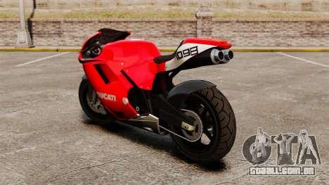Ducati 1098 para GTA 4 traseira esquerda vista