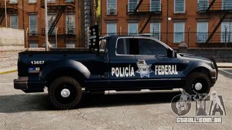 Ford F-150 De La Policia Federal [ELS & EPM] v1 para GTA 4 esquerda vista