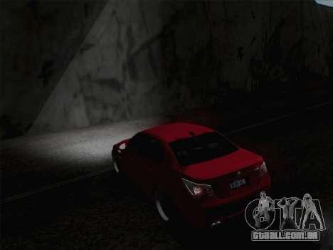 Faróis de média e alta feixe para GTA San Andreas terceira tela