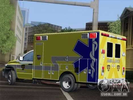 Dodge Ram Ambulance BCFD Paramedic 100 para GTA San Andreas vista superior