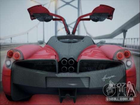 Pagani Huayra para GTA San Andreas vista traseira