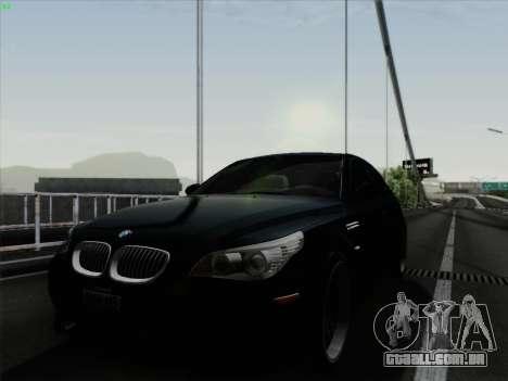 BMW M5 Hamann para GTA San Andreas traseira esquerda vista