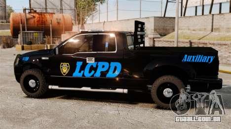 Ford F-150 v3.3 LCPD Auxiliary [ELS & EPM] v1 para GTA 4 esquerda vista