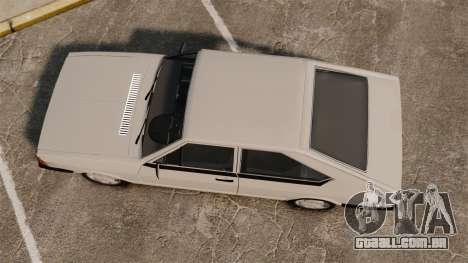 Volkswagen Passat TS 1981 para GTA 4 vista direita