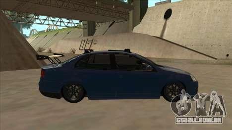Volkswagen Bora GTI 2011 v1 para GTA San Andreas traseira esquerda vista
