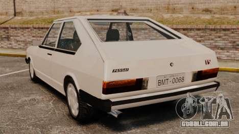 Volkswagen Passat TS 1981 para GTA 4 traseira esquerda vista