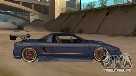 Infernus 2013 para GTA San Andreas traseira esquerda vista