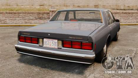 Chevrolet Caprice 1989 para GTA 4 traseira esquerda vista