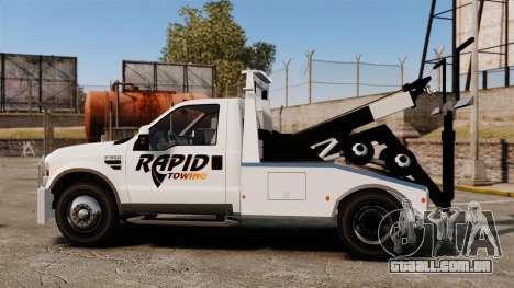 Ford F-550 Towtruck Rapid Towing [ELS] para GTA 4 esquerda vista