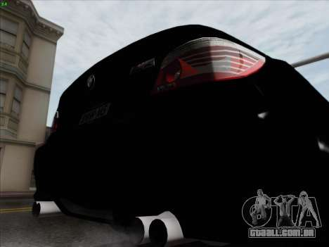 BMW M5 Hamann para GTA San Andreas vista inferior