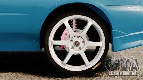 Subaru Impreza para GTA 4 vista de volta