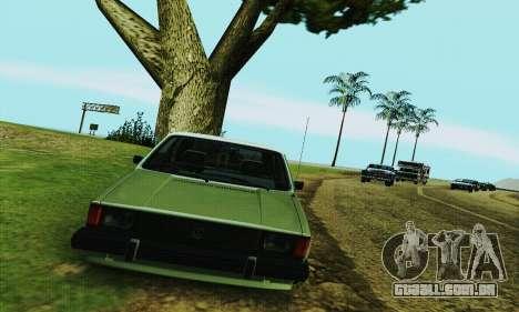 Volkswagen Rabbit GTI 1986 Cult Style para GTA San Andreas vista traseira