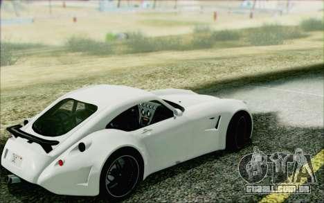 Wiesmann GT MF5 2010 para GTA San Andreas traseira esquerda vista
