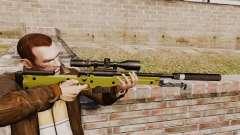 Rifle de sniper L115A1 AW com um silenciador v3 para GTA 4
