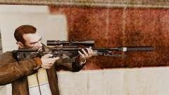 Rifle de sniper L115A1 AW com um silenciador v5