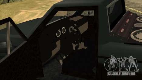 NEW Bobcat para GTA San Andreas vista traseira
