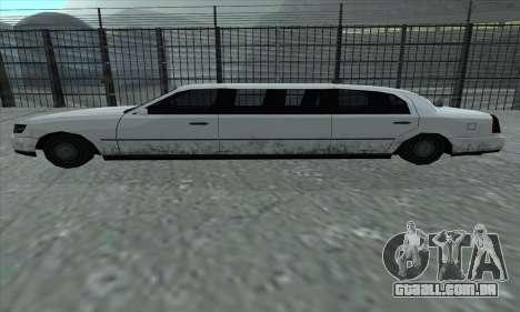 O trecho de GTA 5 para GTA San Andreas esquerda vista
