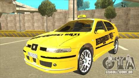 Seat Leon Belgrade Taxi para GTA San Andreas