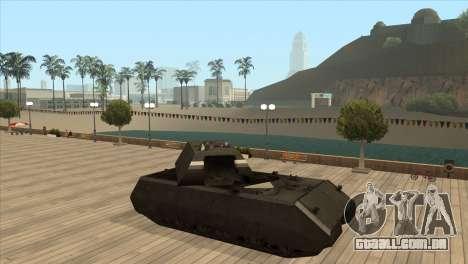 Panzerkampfwagen VIII Maus para GTA San Andreas quinto tela