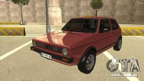 Volkswagen Golf 1 TAS para GTA San Andreas
