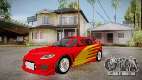 Mazda RX8 Tunnable para GTA San Andreas vista interior