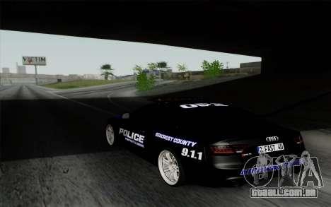 Audi RS5 2011 Police para GTA San Andreas esquerda vista