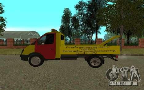 3302 gazela reboque negócios para GTA San Andreas traseira esquerda vista